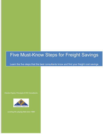 Five Must Know Steps for Freight Savings